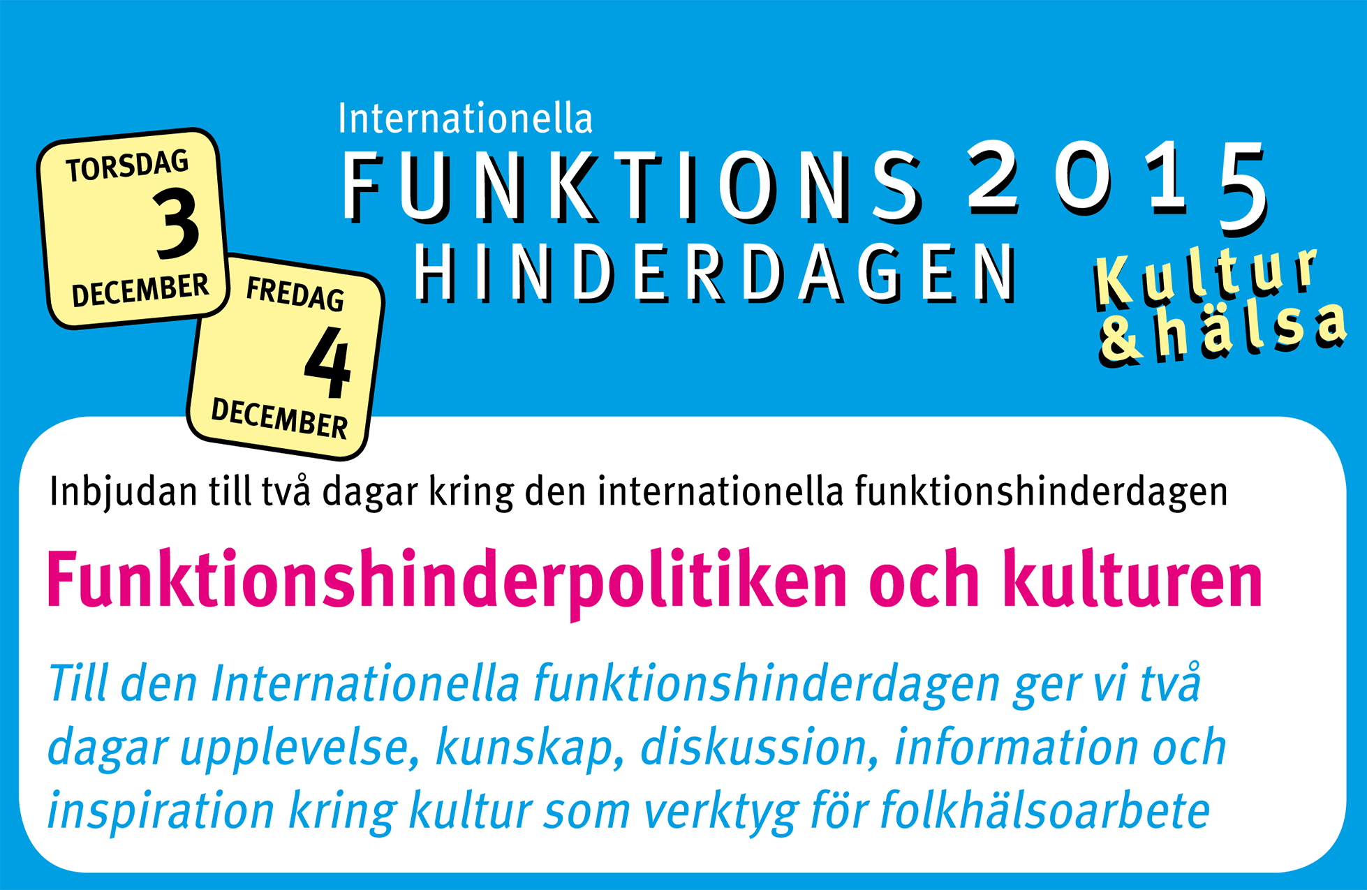 Program för funktionshinderdagen